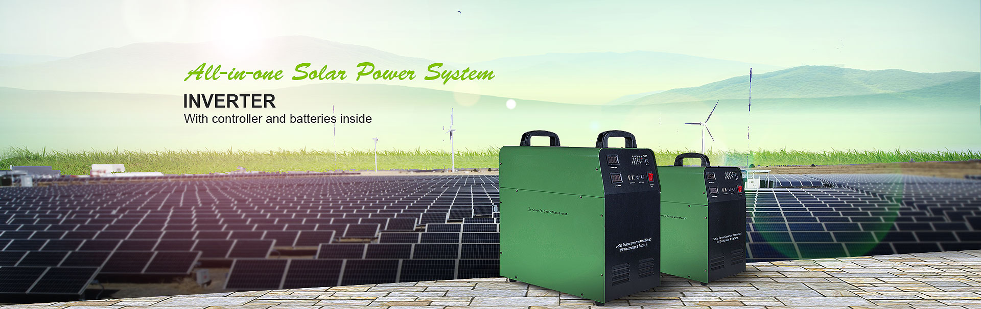 solar Inverter built-in solar controller and solar battery